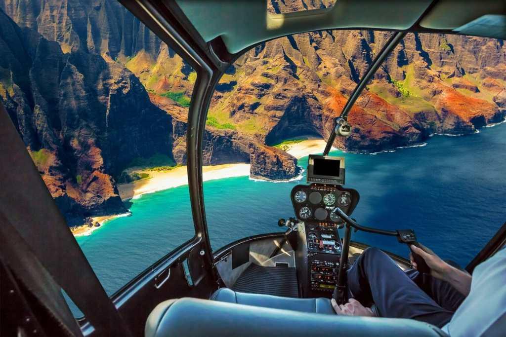 helicopter view kauai