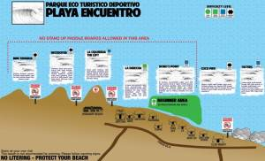playa encuentro surf map