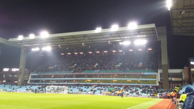 visiting supporters in north stand cup tie