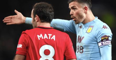 Juan Mata Jack Grealish Aston Villa Manchester United Old Trafford