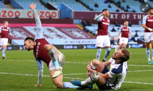 Matty Cash Harry kane Aston Villa Tottenham Spurs