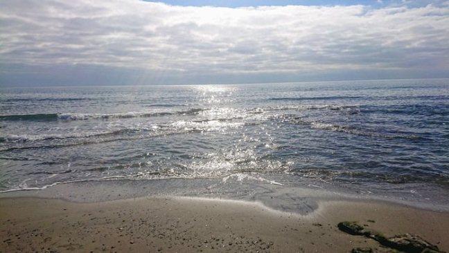 Vågor mot stranden