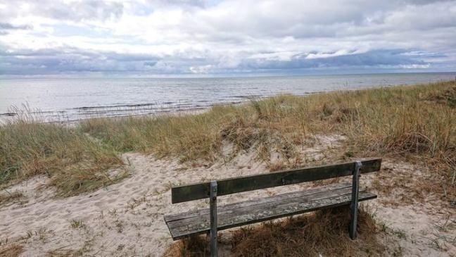 En utsiktsplats vid havet i Skateholm