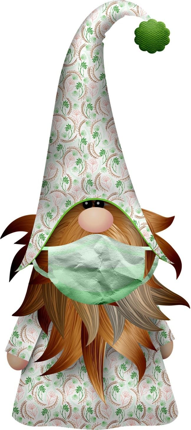 Gnome med Covidmask