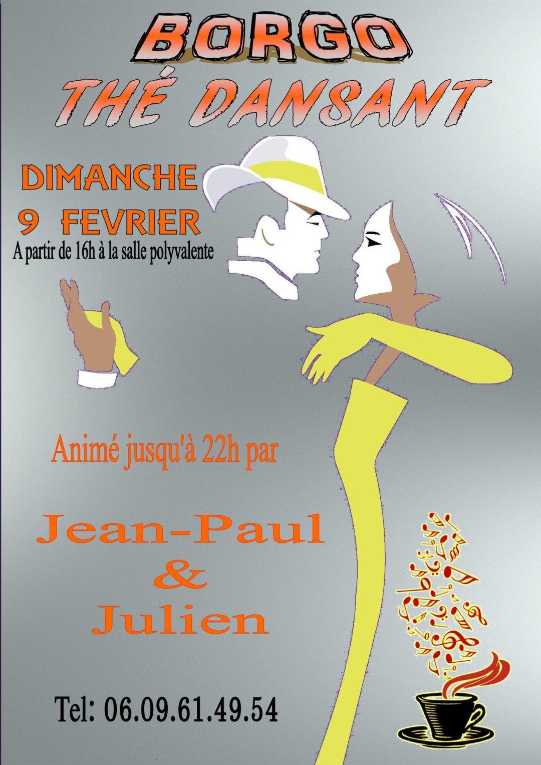 Thé dansant, Dimanche 9 février 2020, Salle polyvalente de Borgo