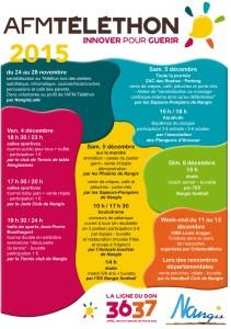Programme du Téléthon 2015
