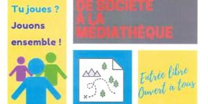 JEUX DE SOCIETE A LA MEDIATHEQUE