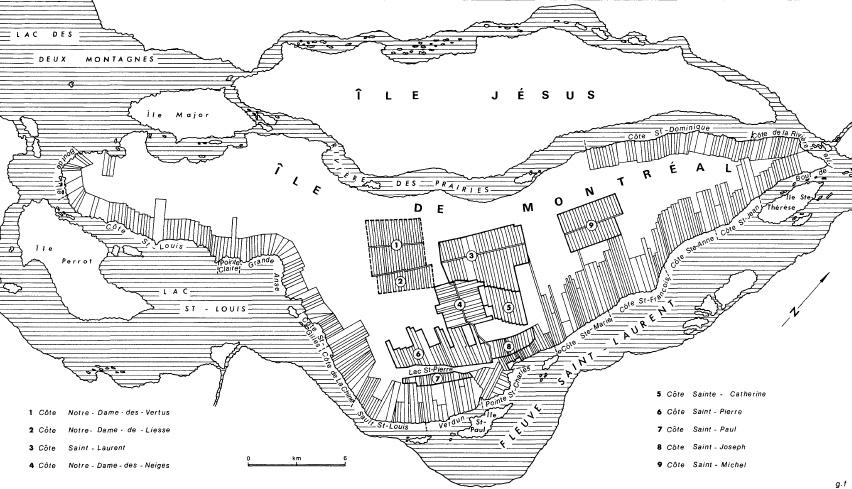 Image result for geographie historique des cotes de L'ile de Montreal