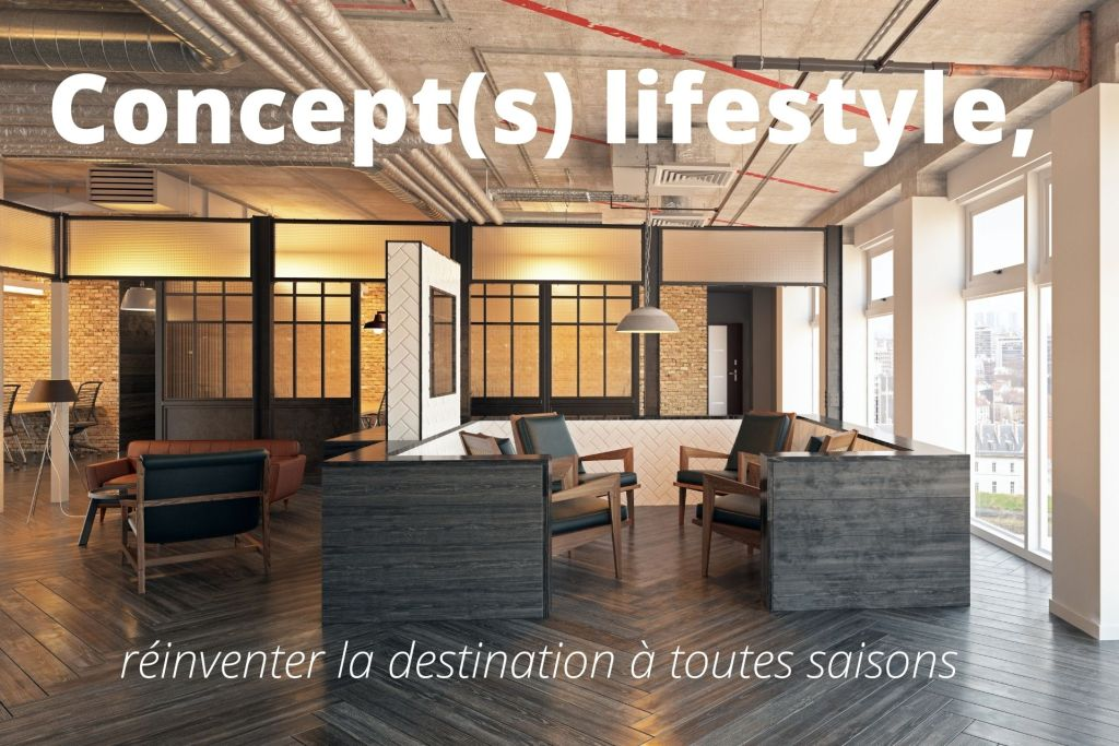 photo d'un lobby d'hotel concept lifestyle au look industriel
