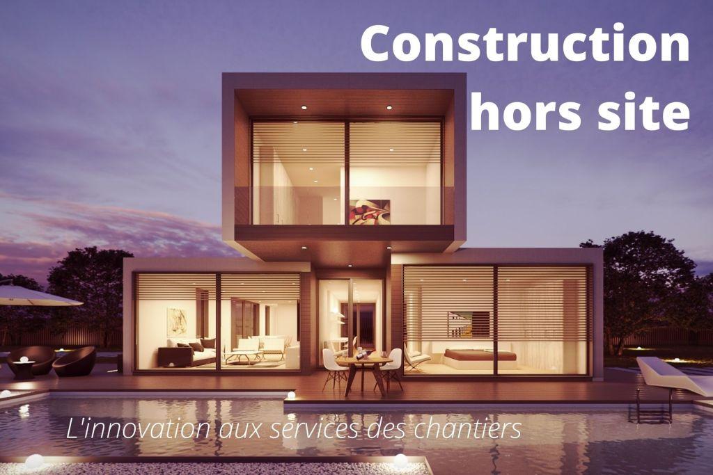 Vue d'une maison hors site / modulaire
