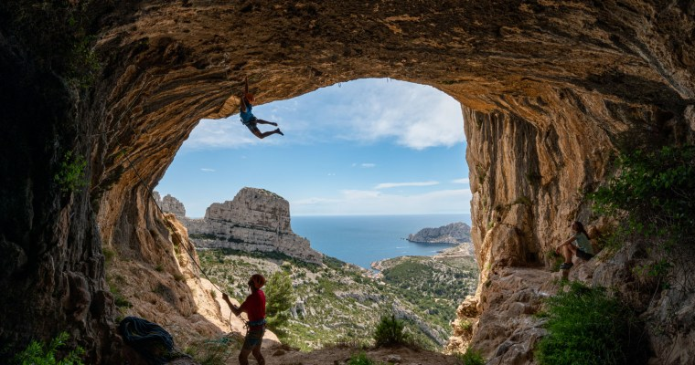 Super mission photos dans un site exceptionnel : les Calanques de Marseille.