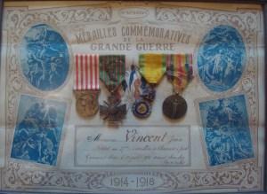 médailles de guerre de jean vincens