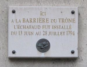 plaque place trone