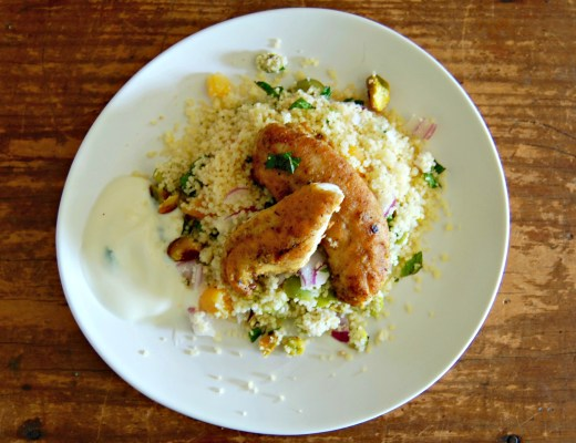 Moroccan style chicken with couscous salad