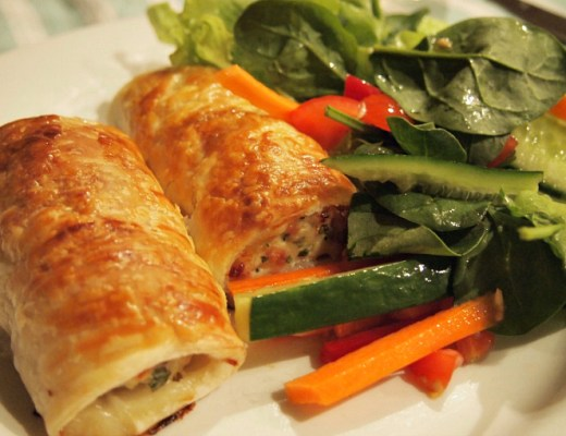thai chicken sausage rolls