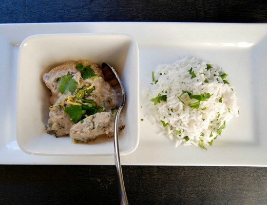 Deliciously creamy, aromatic chicken curry