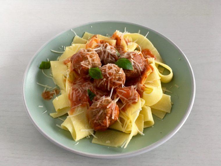Italian meatballs with pasta