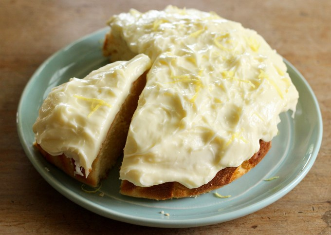 luscious lemon cake with cream cheese icing