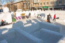 Snöborg i Umeå både för stora och för små