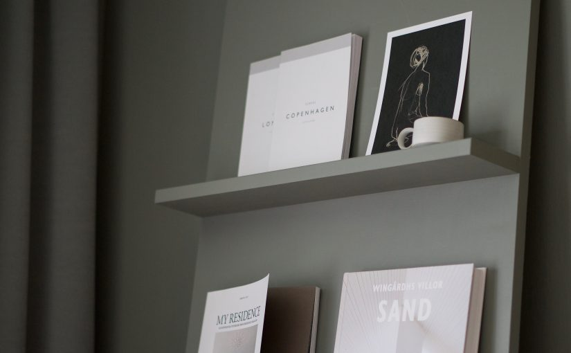 Hemmabygge – tidningshyllan