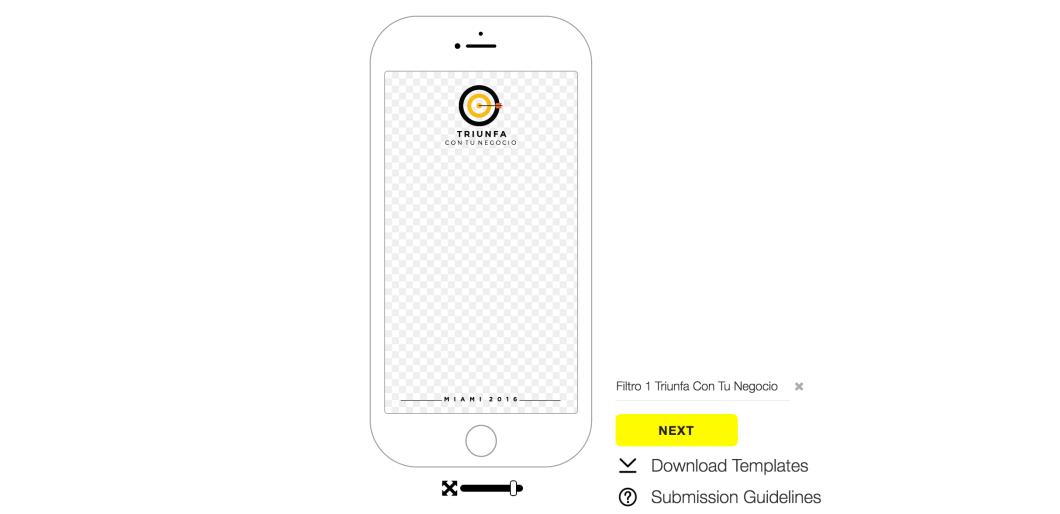 crear un geofiltro snapchat
