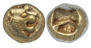 ALYATTES II OR CROESUS ELECTRUM HEMIHECTE ( 1/12 STATER ) - CHOICE XF NGC GRADED LYDIA GREEK COIN (Inv. 11833)