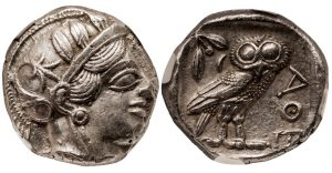 ATHENS SILVER TETRADRACHM - ISSUE OF THE HIGH CLASSICAL PERIOD 460-440 BC - CHOICE XF NGC GRADED GREEK ATTICA COIN (Inv. 9648)