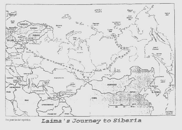 From Trak ėnai, Lithuania to Tiksi, Siberia, a journey of
