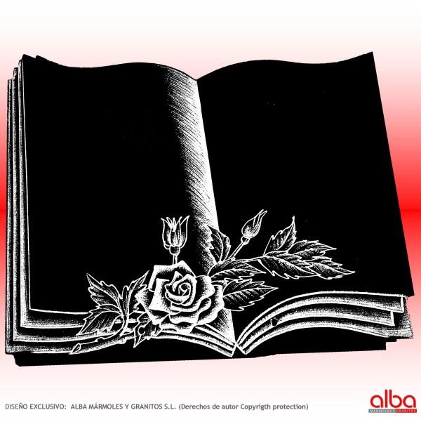 PLACA-LIBRO DE GRANITO mod. libro