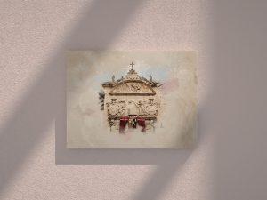 Cuadro Fachada iglesia carmelitas Alba de Tormes