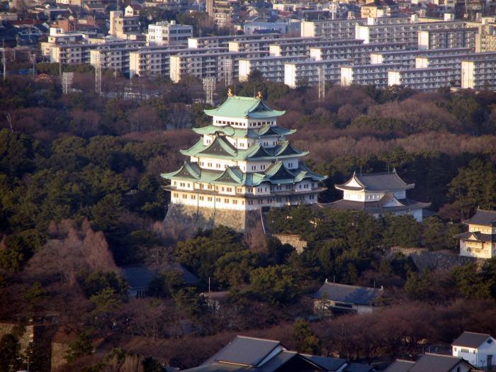 Nagoya slott - japanska städer