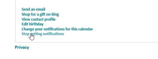How to disable Birthday Calendar notification mails in Outlook (1/6)