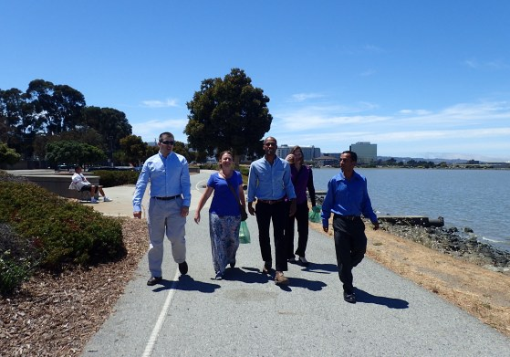 Rob, Jeevan, Sarah, Lian, and Kelly on our way back from lunch.