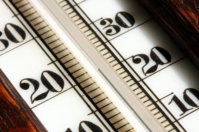 Thermomètre illustrant la température du vin
