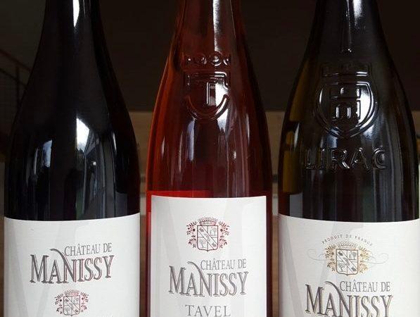 Vins dégustés au château de Manissy - oct 2019