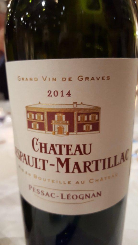 Etiquette du château Lespaut-Martillac rouge 2014