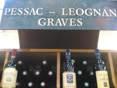 "Pancarte de magasin ""Pessac-Léognan Graves"""