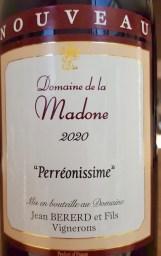 Le Beaujolais nouveau du domaine de la Madone