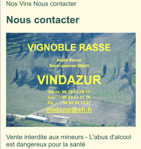 contact vin Rasse