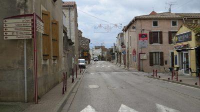 rue principale décorée pour noël