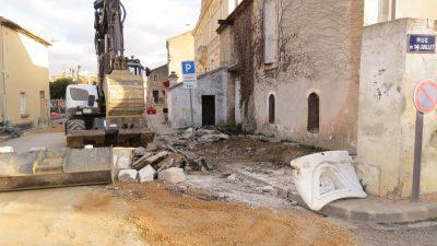 démolition travaux rue de vinassan