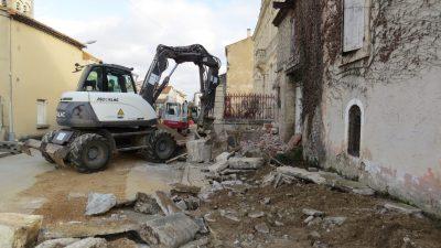 demolition dans les rues de vinassan