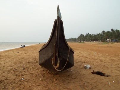 Boat Parked on the Beach at Veli, Trivandrum
