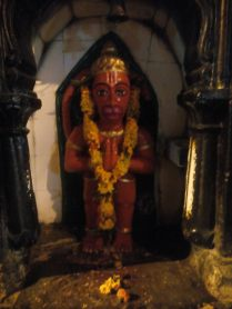 The idol of Hanuman in the streets of Nasik, looks so beautiful.