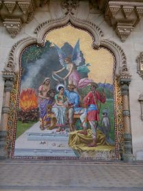 Have a look at this painting outside the palace