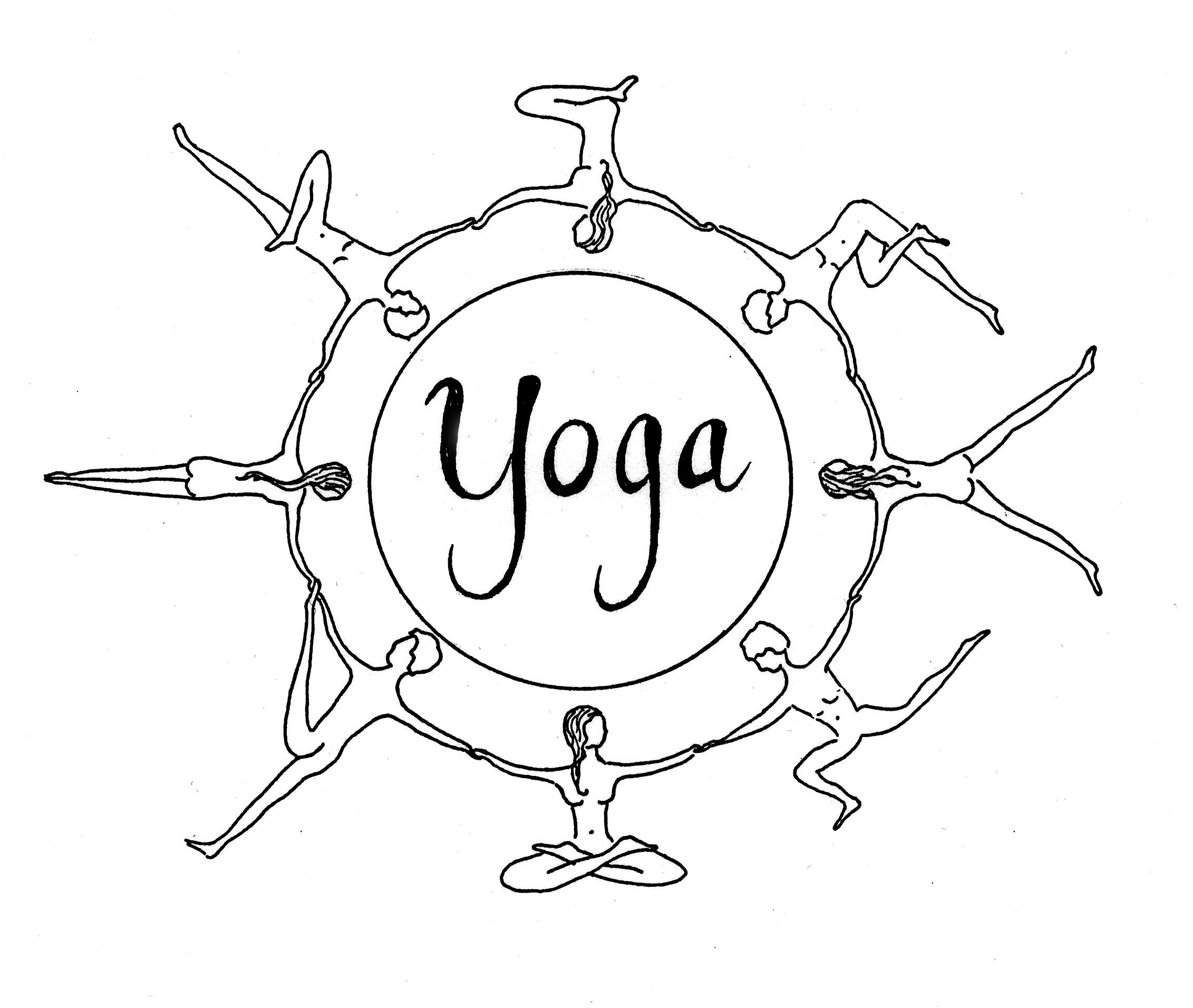 Yoga Poses Coloring Pages Printable Coloring Pages