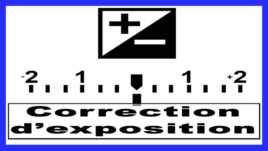 correction d'exposition photo