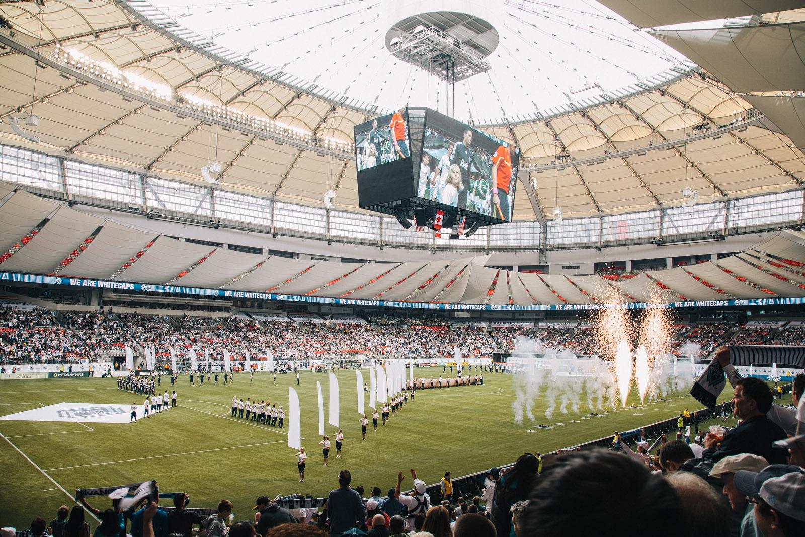 Whitecaps  BC Place Stadium  Vancouver Photographer