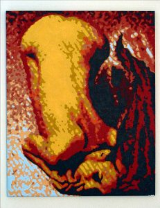 Fiery Woman (acrylic on canvas) 2003