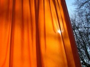 Sun thru curtain